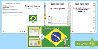 Year 5 Term 3 Non-Fiction Reading Assessment Guided Lesson Teaching Pack - Year 3, Year 4 & Year 5 Reading Assessment Guided Lesson PowerPoints, KS2, reading, read, assessment