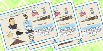 Ernest Shackleton Word Mat - ernest, shackleton, word mat, mat