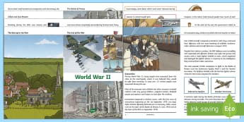 World War II Information Booklet - This lovely booklet is great for increasing knowledge and understanding of World War II. Each page f