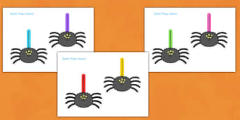 Finger Spacing Spiders - finger spacing spiders, spacing, finger, spider, spiders, Finger spacers, finger space, writing aid, minibeast, sentence structure, finger, space, writing space, space aid, finger space aid, minibeast, halloween
