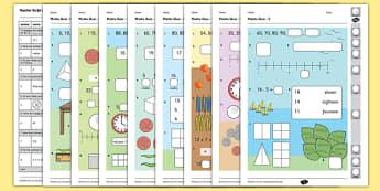 Year 1 Maths Quiz Challenge 3 Activity Sheet Pack, worksheet