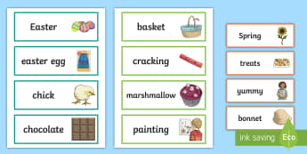 Easter Key Vocabulary Display Labels - ROI, Easter, Key Words, Vocabulary, Display, Labels,Irish