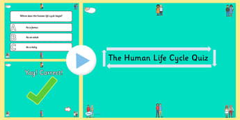 Science Human Life Cycle PowerPoint Quiz - science, humans, quiz