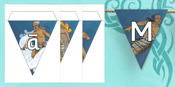 Maori Gods Display Bunting - nz, new zealand, Maori Gods, bunting, display