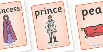 The Princess and the Pea Display Posters - The Princess and the Pea, Display Posters, A4, display, posters, prince, queen, princess, pea, castle, fairytale, traditional tale, Hans Christian Andersen, story, story sequencing,