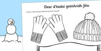 Dear d'éadaí geimhridh féin Gaeilge - roi, irish, gaeilge, design, own, winter, clothes