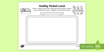 CfE Healthy Packed Lunch Activity Sheet - CfE Healthy Eating Week 12th June, balanced diet, worksheet, packed lunch, healthy living, healthy e