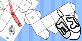 Hanukkah Blank Dreidel Net - hanukkah, dreidel, net, blank, game