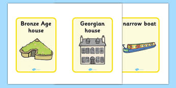 Homes Through the Ages Timeline Cards - houses, homes, visual aid