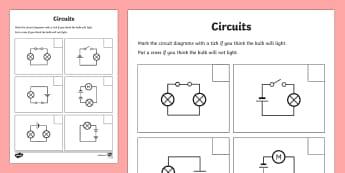 Changing Circuits Worksheet - circuits, circuits worksheet, electric circuits, battery powered circuits, electricity, conducting electricity, ks2 science