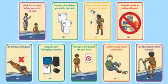 Splash Pool Primary Display Posters