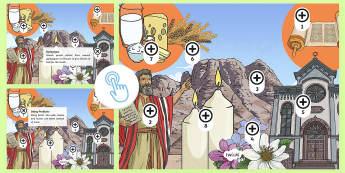 KS2 Shavuot Picture Hotspots - Shavuot, (30.5.17), KS2, year 3, year 4, year 5, year 6, yr 3, yr 4, yr 5, yr 6, Jewish festival, Je
