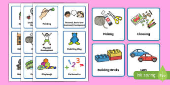 Nursery / Foundation Stage 1 Visual Timetable - Daily Routine, Visual Timetable, SEN, Daily Timetable, School Day, Daily Activities, Foundation Stage