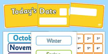 Todays Date Display Pack - display pack, today, date, display