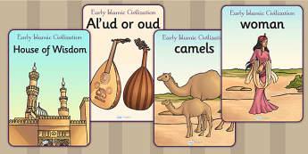 Early Islamic Civilization Posters - history, display, islam