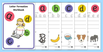 Letter Formation Activity Booklet - australia, letter formation, workbook, activity booklet, activity book, activity, booklet, book, let