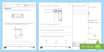 KS3 Magnetism Homework Activity Sheet - Homework, magnet, magnetism, magnetic, electromagnetic, current, circuit, nickel, cobalt, iron, non-