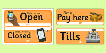 Mobile Phone Shop Role Play Signs - mobile phone shop, role play, signs, display
