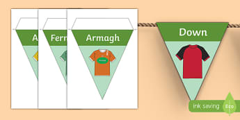 GAA Ulster County Colours Display Bunting
