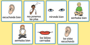 Good Listening Cards Spanish - spanish, good listening, cards, good, listening, communication