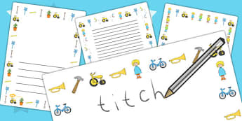 Page Borders to Support Teaching on Titch - writing template, writing aid, line guides