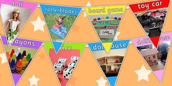 Toy Photo Bunting - toys, toys display, display bunting, display
