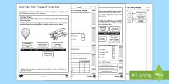 Ymarfer Prawf Darllen Blwyddyn 2 a 3 Y Brodyr Wright - Procedural Examples, tests, test, Numeracy Tests, procedural,  Years 5, years 6, Deunyddiau Sampl Gw