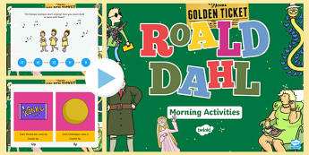 Roald Dahl Themed Year 2 Morning Activities Incidental Welsh PowerPoint - Welsh, Welsh Second Language, Maths PowerPoints, Year 2, Morning Activites, Roald Dahl.