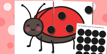 Ladybug Spot Counting Activity - counting, maths