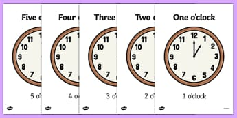Display Clocks Hours With Written Times - display, clocks, hours, times, time, written