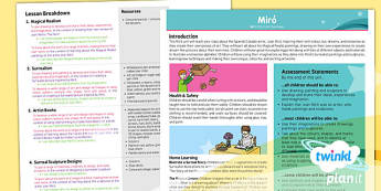 PlanIt - Art KS1 - Miro Planning Overview - planit, art, unit