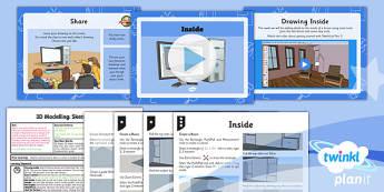 PlanIt - Computing Year 5 - 3D Modelling SketchUp Lesson 3: Inside Lesson Pack - planit, computing