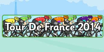 Tour de France 2014 Display Banner - le tour, geography, header