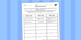 Read For a Range of Purposes Reading Outside the Book Worksheet