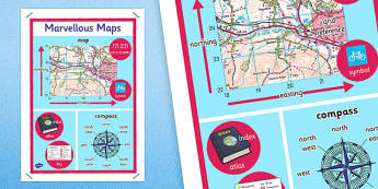 Marvellous Maps Large Display Poster - marvellous, maps, display, poster