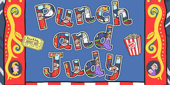 Punch and Judy Display Lettering - display, lettering, letter