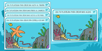 Bajo el mar Tapiz de plastilina