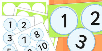 Numbers 1 to 10 Number Line - counting, count, counting aid, maths
