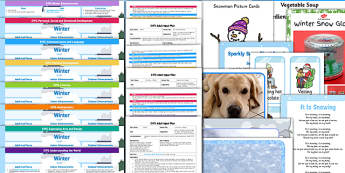 EYFS Winter Themed Lesson Plan Enhancement Ideas and Resources Pack - winter, EYFS, lesson plan, enhancement, ideas, pack
