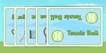 Wimbledon Table Signs - sports, tennis, pe, sport, label, display