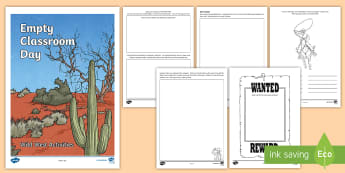 Empty Classroom Day Wild West Activity Booklet - CfE Empty Classroom Day (May 18th), cowboy, outdoor classroom day, outdoor learning, activity  bookl