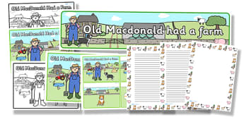 Old MacDonald Had a Farm Resource Pack - old macdonald had a farm, resource pack, pack of resource, themed resource pack, old macdonald pack, nursery rhyme