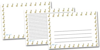 Giraffe Portrait Page Borders- Portrait Page Borders - Page border, border, writing template, writing aid, writing frame, a4 border, template, templates, landscape