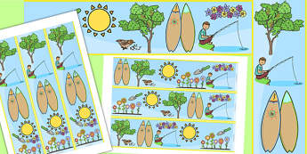 Spring Display Border - seasons, weather, display board, borders