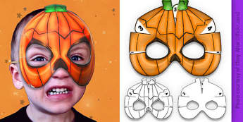 3D Halloween Pumpkin Monster Mask - 3d, halloween, pumpkin, monster, mask