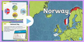 Norway Information PowerPoint - CfE Social Studies resources, Norway, Norwegian information, all about Norway, Norwegian, powerpoint