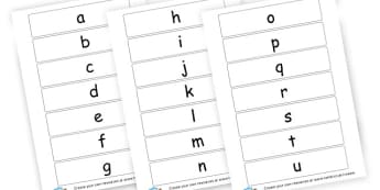 Lower Case Letters - Lowercase Alphabet Formation Primary Resources, alphabet, writing