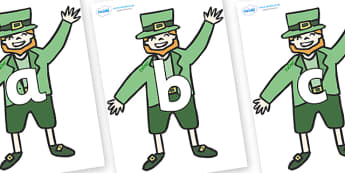 Phoneme Set on Leprechauns - Phoneme set, phonemes, phoneme, Letters and Sounds, DfES, display, Phase 1, Phase 2, Phase 3, Phase 5, Foundation, Literacy
