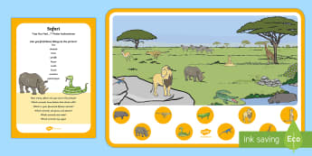 Safari Can You Find...? Poster and Prompt Card Pack - Safari, animal, savannah, Africa, plains, african animals