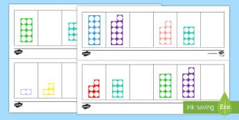 Missing Number Shape Activity Sheet - Number Shapes, Missing Shapes, Numicon, counting, number recognition